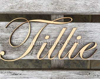 Name / word - 18cm wide - MDF - unpainted - 3mm or 6mm thick