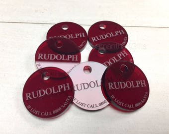 Rudolph's lost Tag! Great stocking filler
