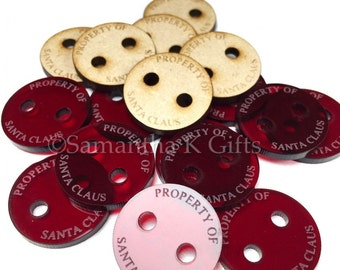 Santa's lost Button! Great stocking filler