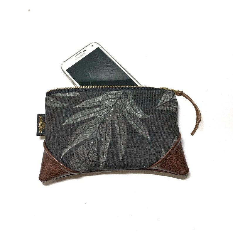 Mini Black 'Ulu Breadfruit Zipper Pouch / Mini Clutch image 0