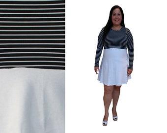 Pink White Grey & Beige Asymmetrical Colorblock Dress //   Etsy