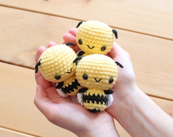 PATTERN: Burt the Baby Honey Bee Amigurumi, Crocheted Bumble Bee Pattern, Bee Toy Tutorial, PDF Crochet Pattern