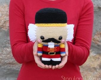 PATTERN: Cuddle-Sized Nutcracker Amigurumi, Crocheted Nutcracker Pattern, Nutcracker Ballet Toy Tutorial, PDF Crochet Pattern