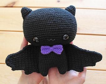 PATTERN: Cuddle-Sized Bat Amigurumi, Crocheted Bat Pattern, Bat Toy Tutorial, PDF Crochet Pattern, Halloween