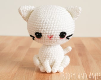 PATTERN: Cupcake the Kitty Amigurumi, Crocheted Cat Pattern, Kitten Toy Tutorial, PDF Crochet Pattern