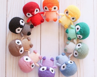 PATTERN: Baby Penguin Amigurumi, Crocheted Penguin, Bird Toy Tutorial, PDF Crochet Pattern, Holiday, Winter Crochet