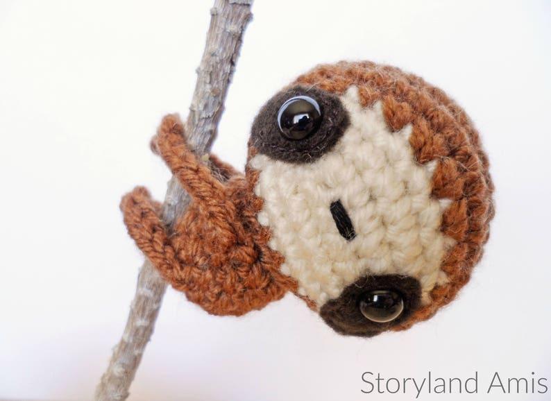 PATTERN: Zippy the Baby Sloth Amigurumi Crocheted Sloth image 0