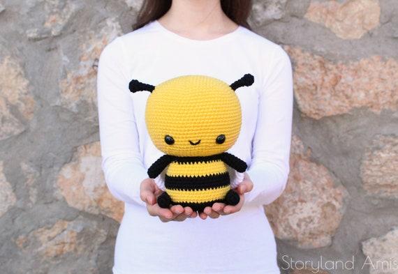 Pattern Cuddle Sized Bumble Bee Amigurumi Crocheted Honey Etsy