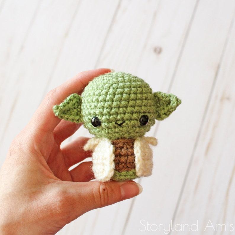 PATTERN: Baby Alien Amigurumi Crocheted Little Green Guy Toy image 0