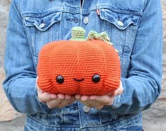 PATTERN: Cuddle-Sized Pumpkin Amigurumi, Crocheted Pumpkin Pattern, Pumpkin Toy Tutorial, PDF Crochet Pattern, Halloween, Thanksgiving