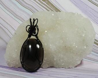 Black Obsidian Pendant  - Good for Grounding