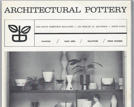 Architectural Pottery 1962 Catalog PDF.