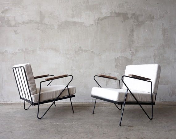 Made to Order Iron Modernist Lounge Chairs