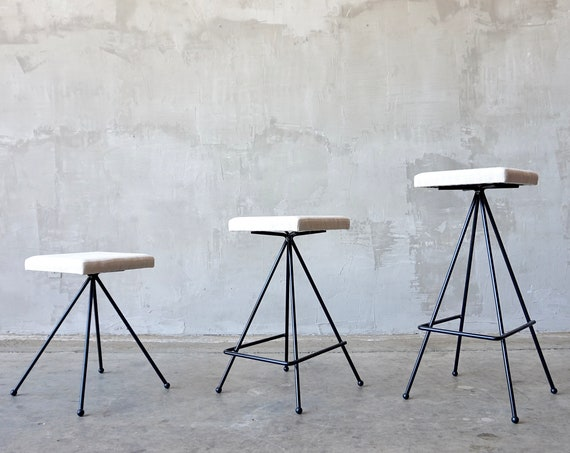 Made to Order Iron Modernist Stools.