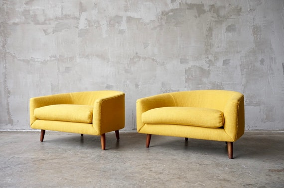 Pair of Adrian Pearsall 'Cloud' Chairs