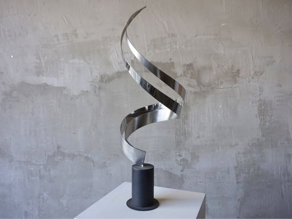 Chrome & Brushed Steel Sculpture.