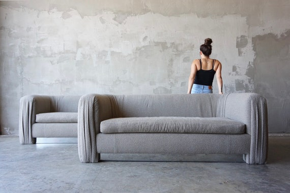 Pair of Curved Back Sofas