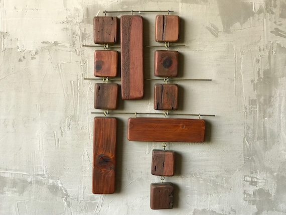 Wood & Brass Wall Hanging