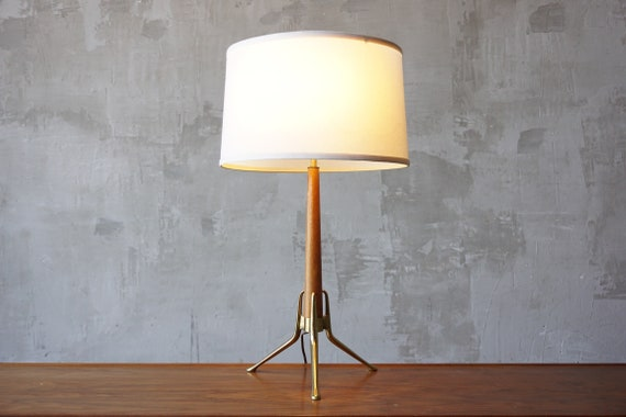 Gerald Thurston Brass & Walnut Lamp