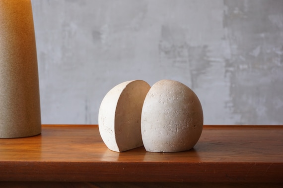 Raymor Travertine Bookends.