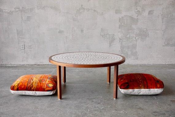 Martz Ceramic & Walnut Coffee Table