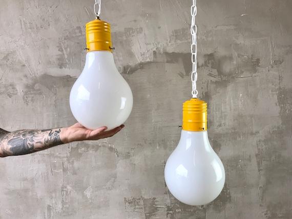 Ingo Maurer Style Bulb Pendants.