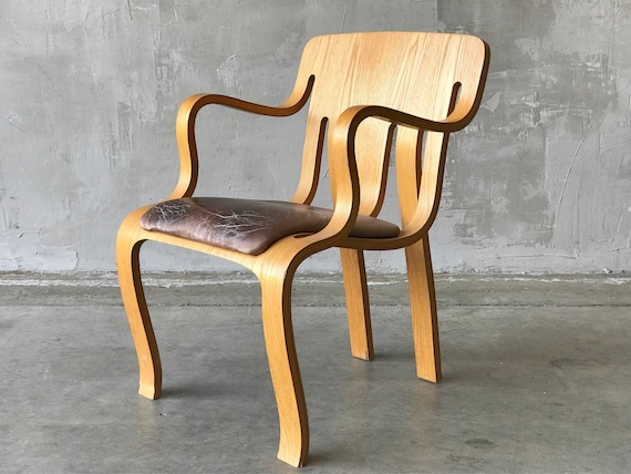 Peter Danko Ply & Leather Chair.