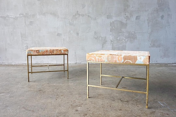Jack Lenor Larsen & Brass Benches