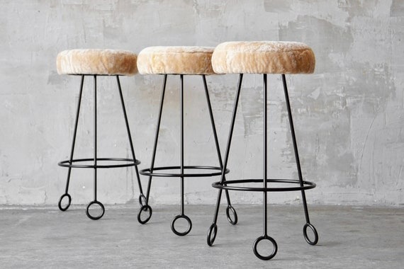 Made to Order Jean Royere Style Stools.