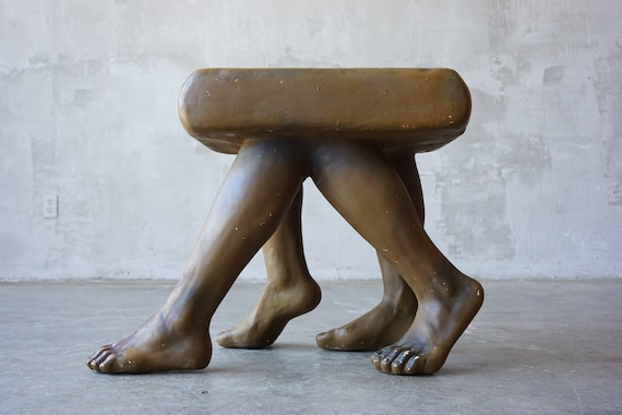 Vintage Surrealist Plaster Table