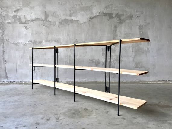 FREE SHIPPING - Iron Record & Book Shelving.
