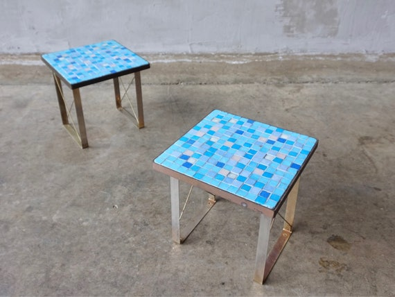 Vibrant Glass Tile Mosaic Tables.
