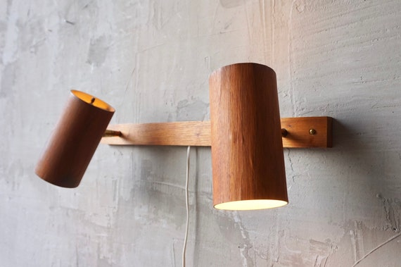 George Nelson 'Holzzylinder' Wall Lamps