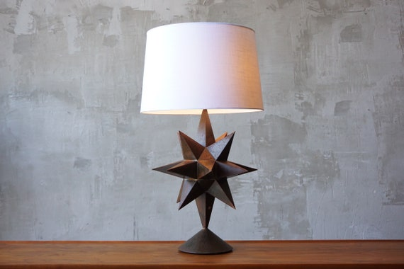 Vintage Patinated Starburst Lamp