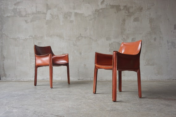 Pair of Mario Bellini 'Cab' Chairs