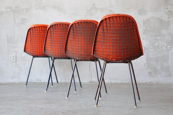 Set of 4 Eames 'DKX' Dining Chair