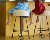 Made to Order Jean Royere Style Counter Stools