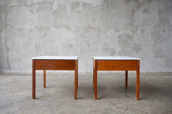 Early Florence Knoll Nightstands/End Tables