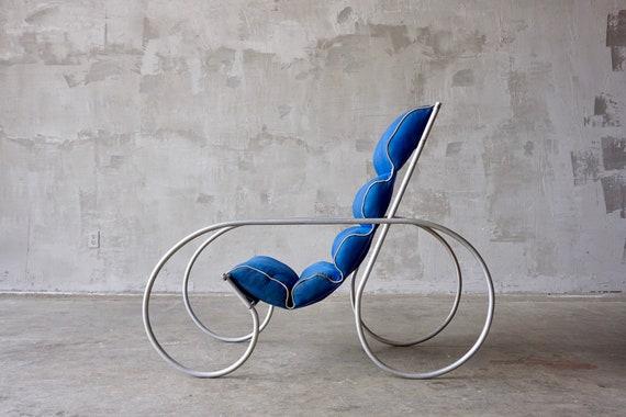 Aluminum Art Deco Chair