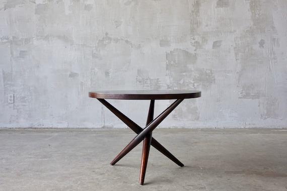 T.H. Robsjohn Gibbings X-Base Side Table