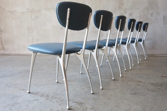 Six Shelby Williams 'Gazelle' Chairs
