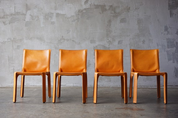 Set of 4 Mario Bellini 'Cab' Chairs