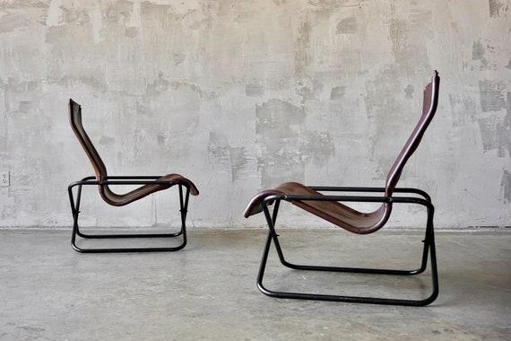 Takeshi Nii Leather Lounge Chairs