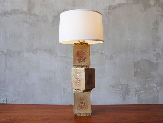 Hand Built Ceramic Lamp