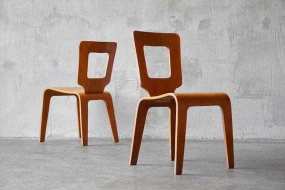 Pair of Thaden Jordan Plywood Chairs