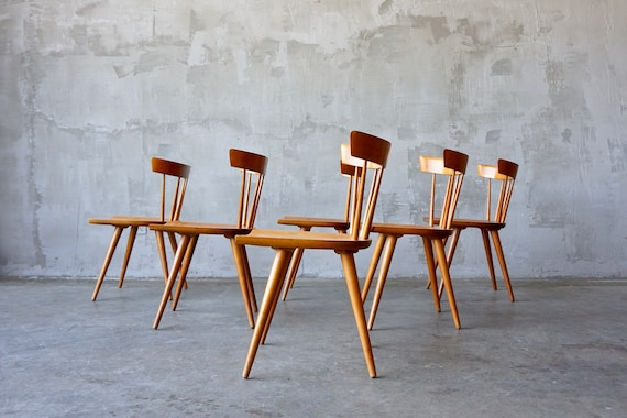 Set of 6 Paul McCobb Dining Chairs