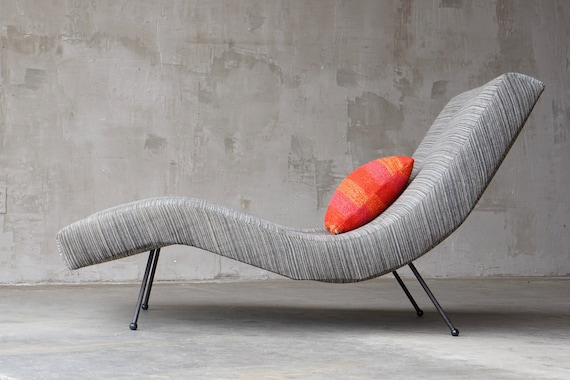 Adrian Pearsall Iron Chaise Lounge.