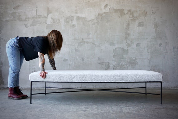 Iron & Wool Boucle Daybed