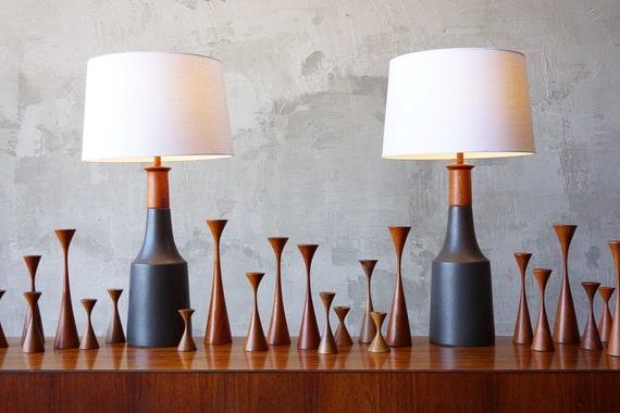 Large Pair of Martz Lamps