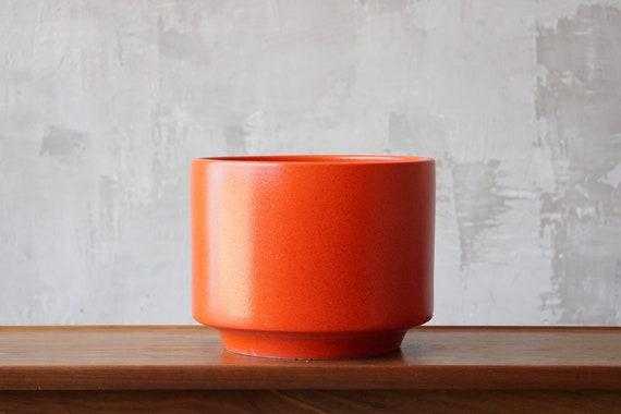 Orange Gainey Ceramics Planter